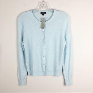 J. Crew Featherweight cashmere cardigan sweater